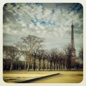 Fra Paristuren i jula. Jeg regner med at det er mye grønnere der i sommer.